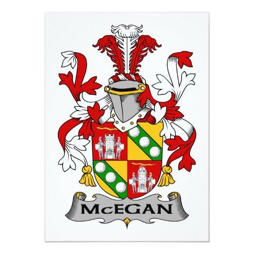 Escudo de la familia de McEgan Invitaciones Personalizada