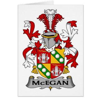 Escudo de la familia de McEgan Tarjeta De Felicitación