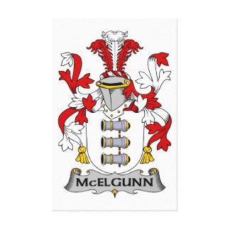 Escudo de la familia de McElgunn Impresiones De Lienzo