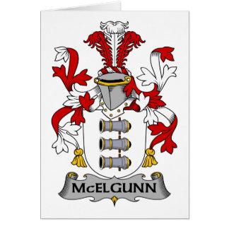 Escudo de la familia de McElgunn Tarjetas