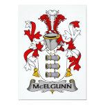 Escudo de la familia de McElgunn Invitación 12,7 X 17,8 Cm