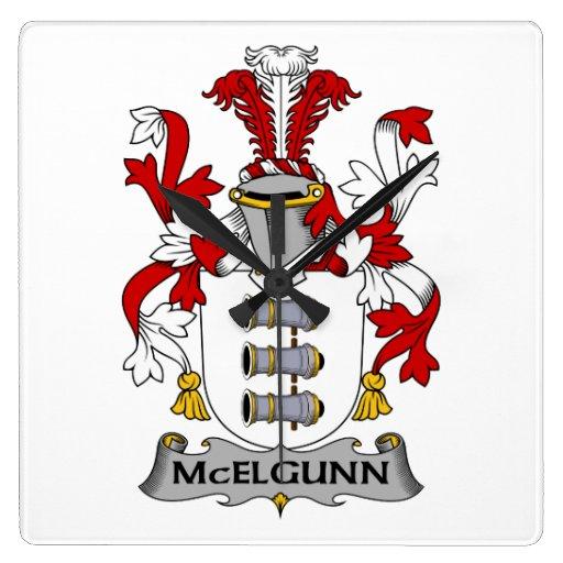 Escudo de la familia de McElgunn Relojes
