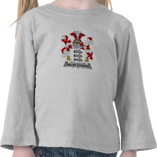 Escudo de la familia de McElgunn Camisetas