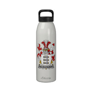 Escudo de la familia de McElgunn Botellas De Agua Reutilizables