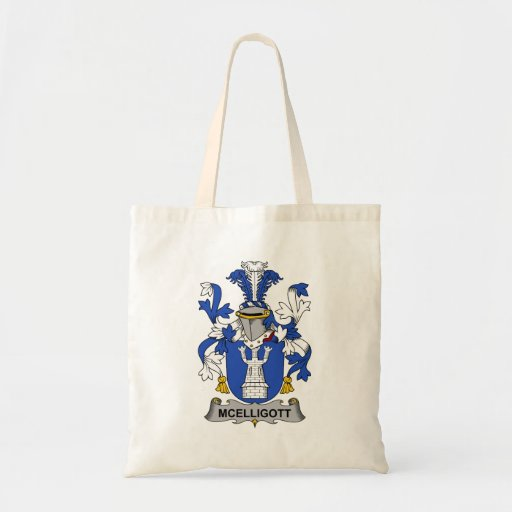 Escudo de la familia de McElligott Bolsa Tela Barata