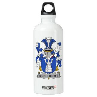 Escudo de la familia de McElligott Botella De Agua