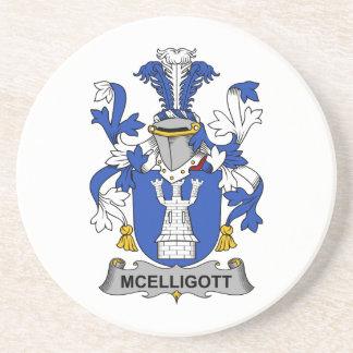 Escudo de la familia de McElligott Posavasos Personalizados