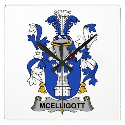 Escudo de la familia de McElligott Relojes