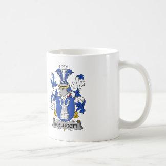 Escudo de la familia de McElligott Taza De Café