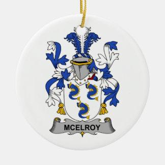 Escudo de la familia de McElroy Ornamento De Reyes Magos
