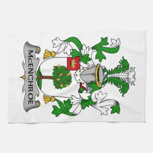 Escudo de la familia de McEnchroe Toalla De Mano