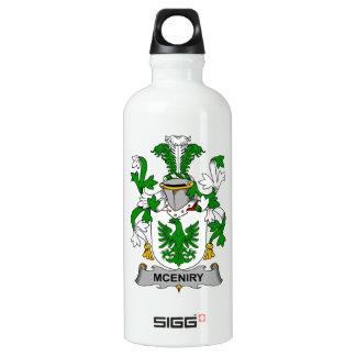 Escudo de la familia de McEniry Botella De Agua
