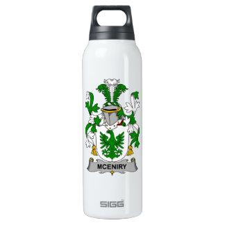 Escudo de la familia de McEniry Botella Isotérmica De Agua