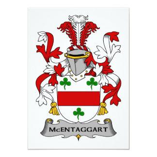 Escudo de la familia de McEntaggart Invitación 12,7 X 17,8 Cm