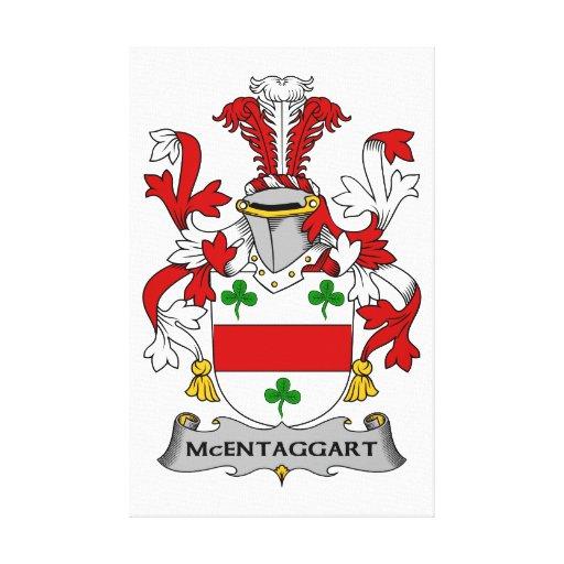 Escudo de la familia de McEntaggart Lona Estirada Galerías