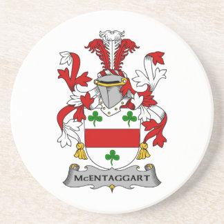 Escudo de la familia de McEntaggart Posavaso Para Bebida