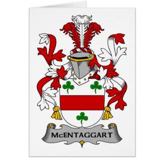 Escudo de la familia de McEntaggart Tarjeton