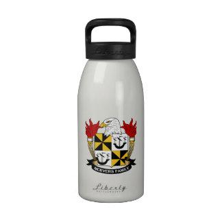 Escudo de la familia de McEvers Botella De Agua Reutilizable