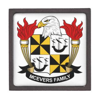 Escudo de la familia de McEvers Cajas De Regalo De Calidad