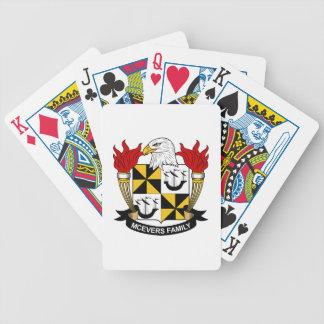 Escudo de la familia de McEvers Baraja Cartas De Poker