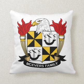 Escudo de la familia de McEvers Almohadas