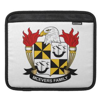 Escudo de la familia de McEvers Funda Para iPads