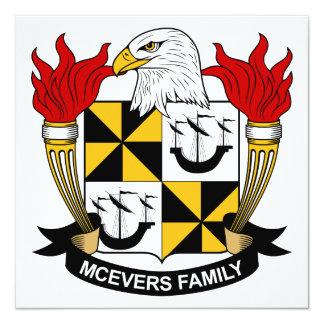Escudo de la familia de McEvers Comunicados Personalizados