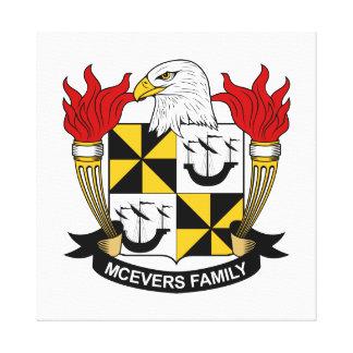 Escudo de la familia de McEvers Impresiones En Lona Estiradas