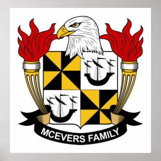 Escudo de la familia de McEvers Poster
