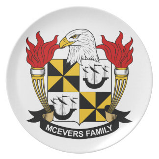 Escudo de la familia de McEvers Plato De Cena