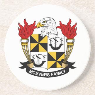 Escudo de la familia de McEvers Posavasos Manualidades