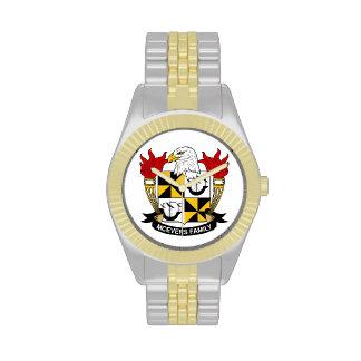 Escudo de la familia de McEvers Relojes De Mano