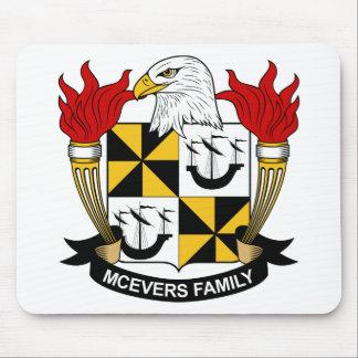 Escudo de la familia de McEvers Alfombrilla De Ratones