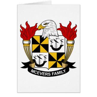 Escudo de la familia de McEvers Felicitación