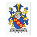Escudo de la familia de McFadden Invitacion Personal