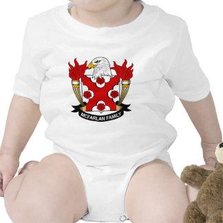 Escudo de la familia de McFarlan Traje De Bebé