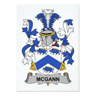 """Escudo de la familia de McGann Invitación 5"""" X 7"""""""