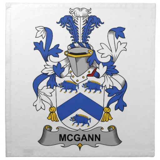 Escudo de la familia de McGann Servilletas Imprimidas