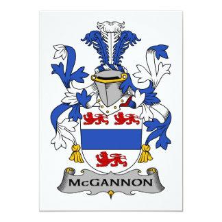 Escudo de la familia de McGannon Invitación 12,7 X 17,8 Cm