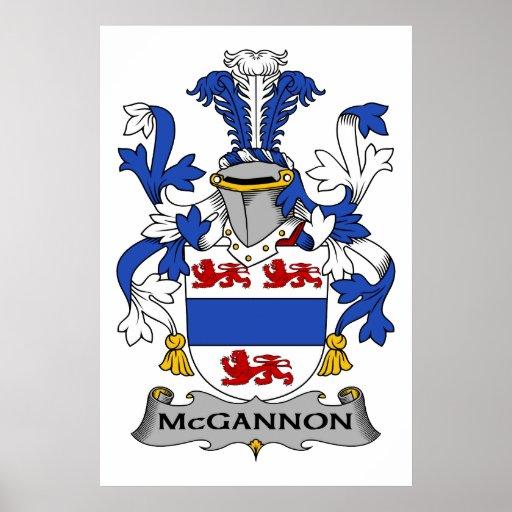 Escudo de la familia de McGannon Poster