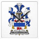 Escudo de la familia de McGannon Reloj