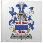 Escudo de la familia de McGannon Servilletas De Papel