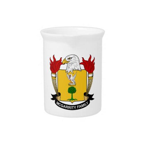 Escudo de la familia de McGarrity Jarras De Beber