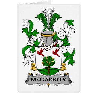 Escudo de la familia de McGarrity Tarjeta De Felicitación