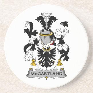 Escudo de la familia de McGartland Posavasos Para Bebidas
