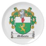 Escudo de la familia de McGenis Plato De Cena