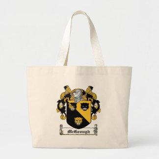 Escudo de la familia de McGeough Bolsa Tela Grande