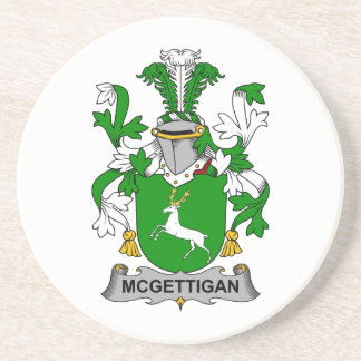 Escudo de la familia de McGettigan Posavasos Manualidades