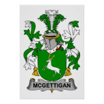 Escudo de la familia de McGettigan Posters