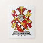 Escudo de la familia de McGibbons Rompecabezas Con Fotos